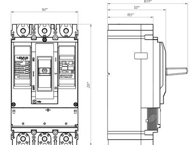 Выключатель ВА40-06 стационарного исполнения